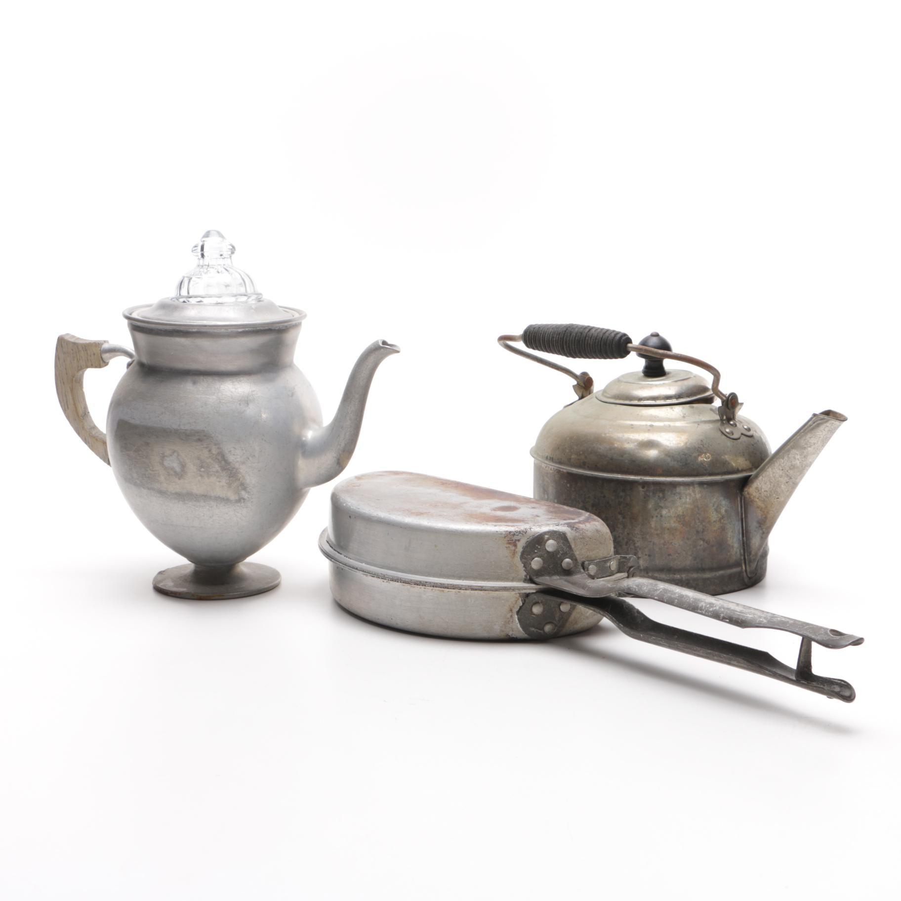 Aluminum Coffee Pot, Kettle, and Omelette Maker