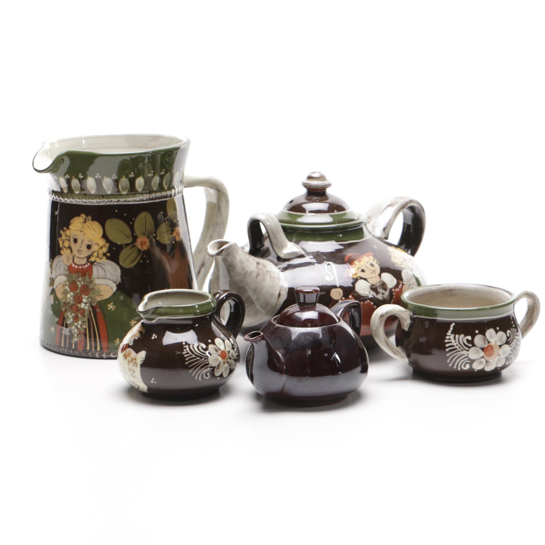 Bavarian Pottery Tea Set