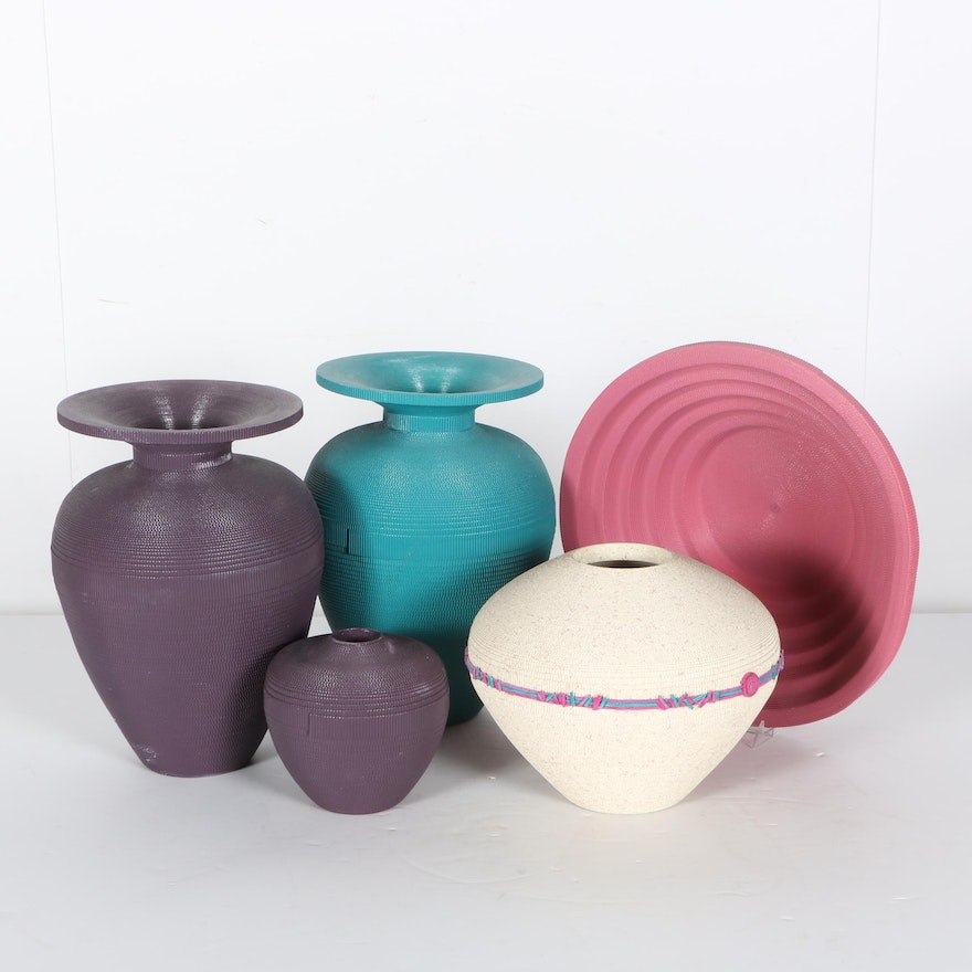 Corrugated Paper Bowls And Vases Ebth