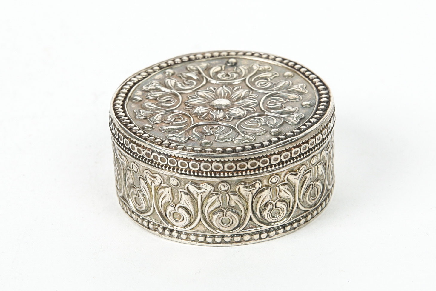 Sterling Silver Handcrafted Trinket Box