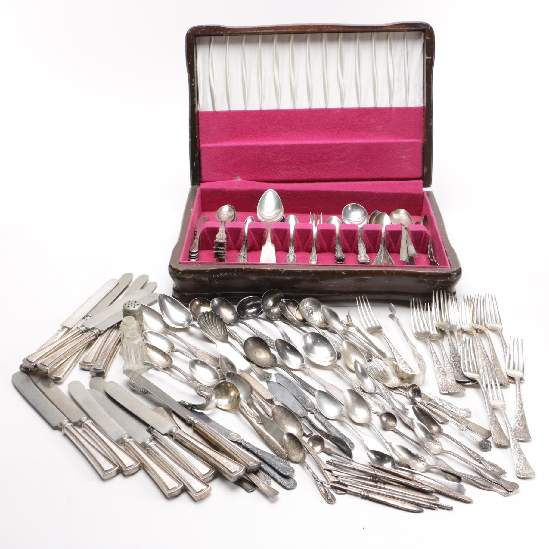 Assorted Silver-Plated Flatware Featuring Rogers Brothers