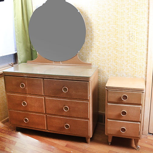 Art Deco Inspired Dresser and Nightstand