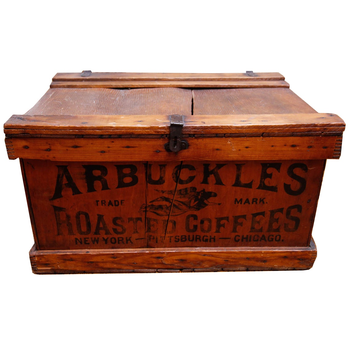 Arbuckles Roasted Coffees Wooden Trunk