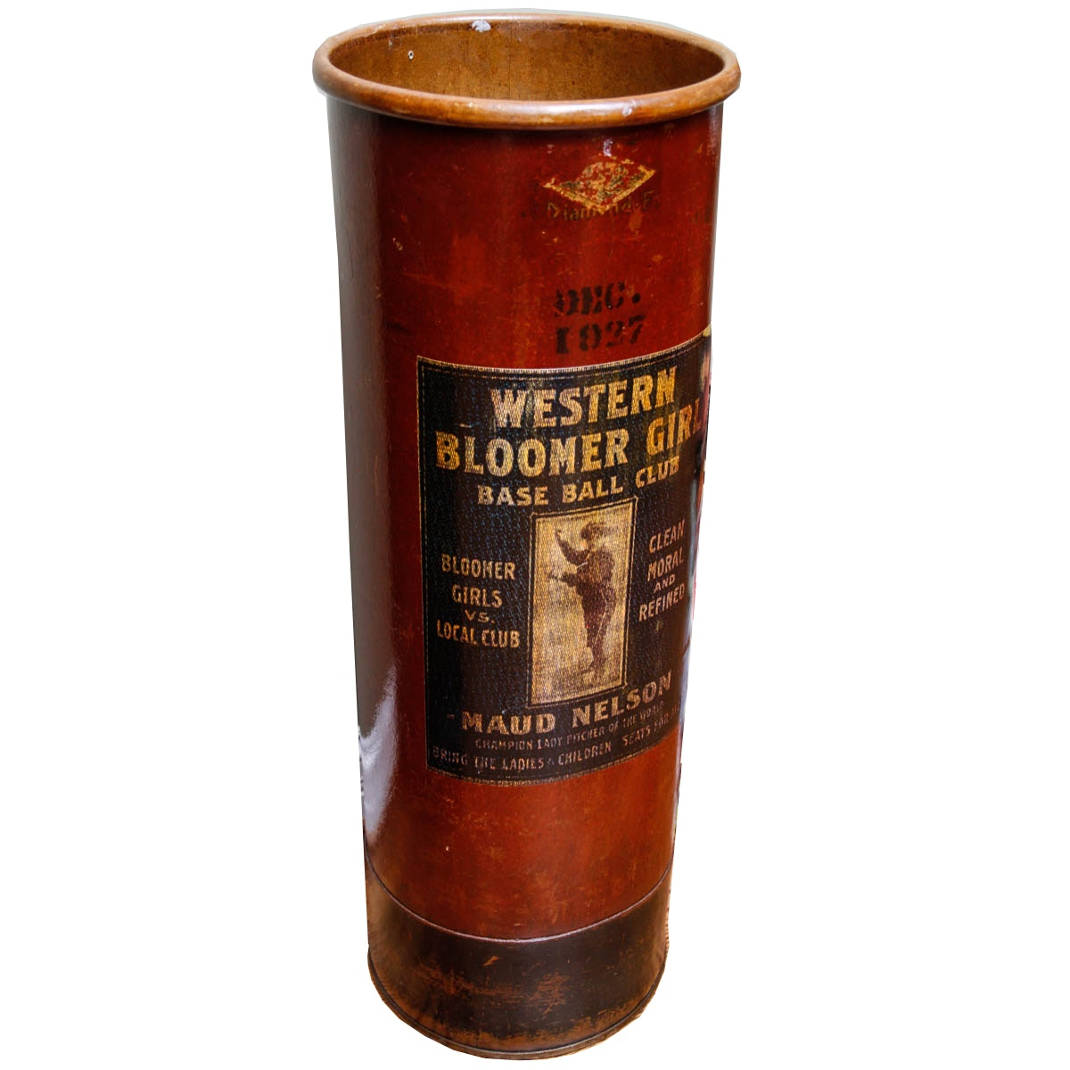 """Western Bloomer Girl"" Wooden Umbrella Holder"