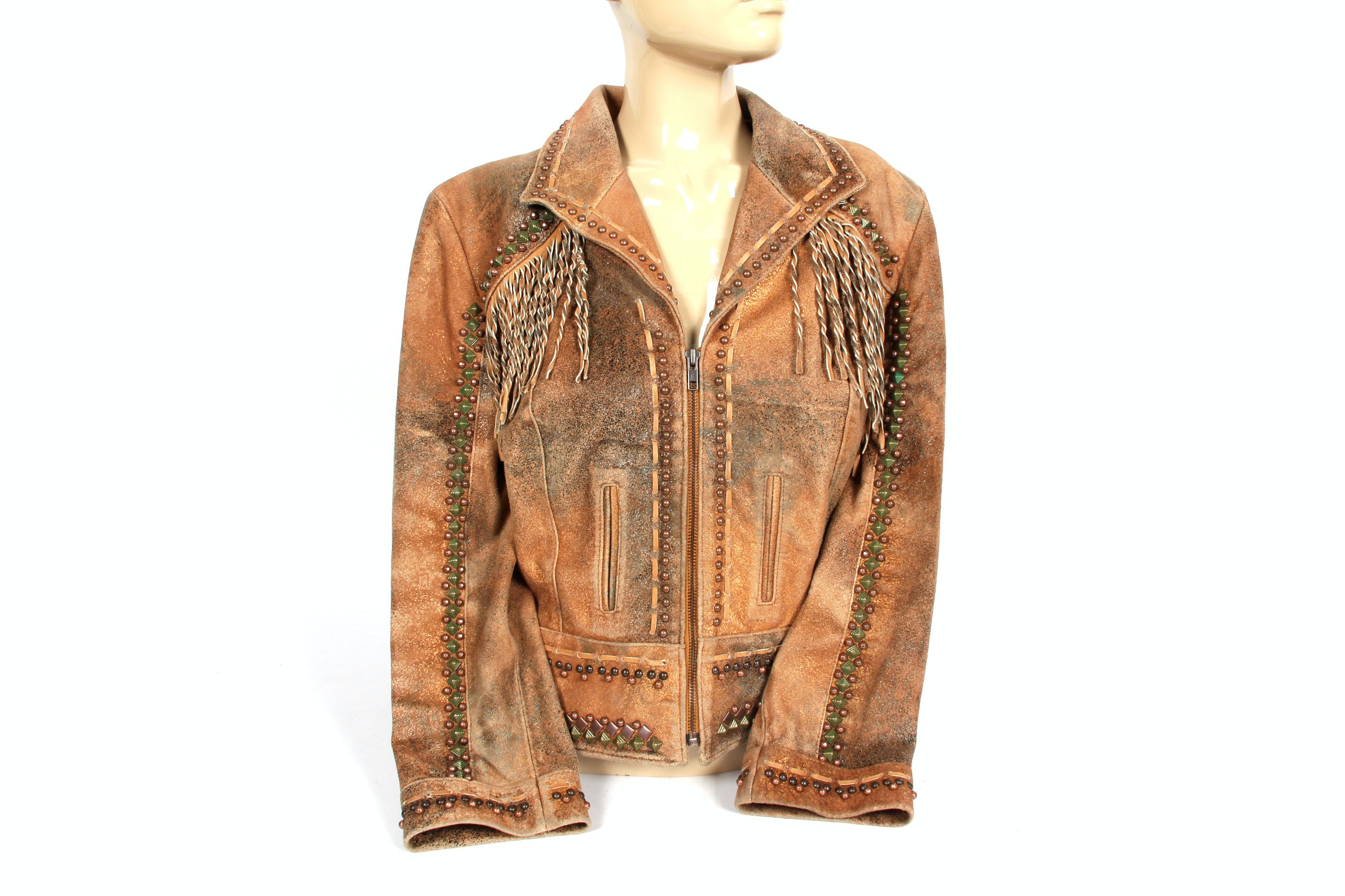 Double D Ranch Leather Jacket - Size M
