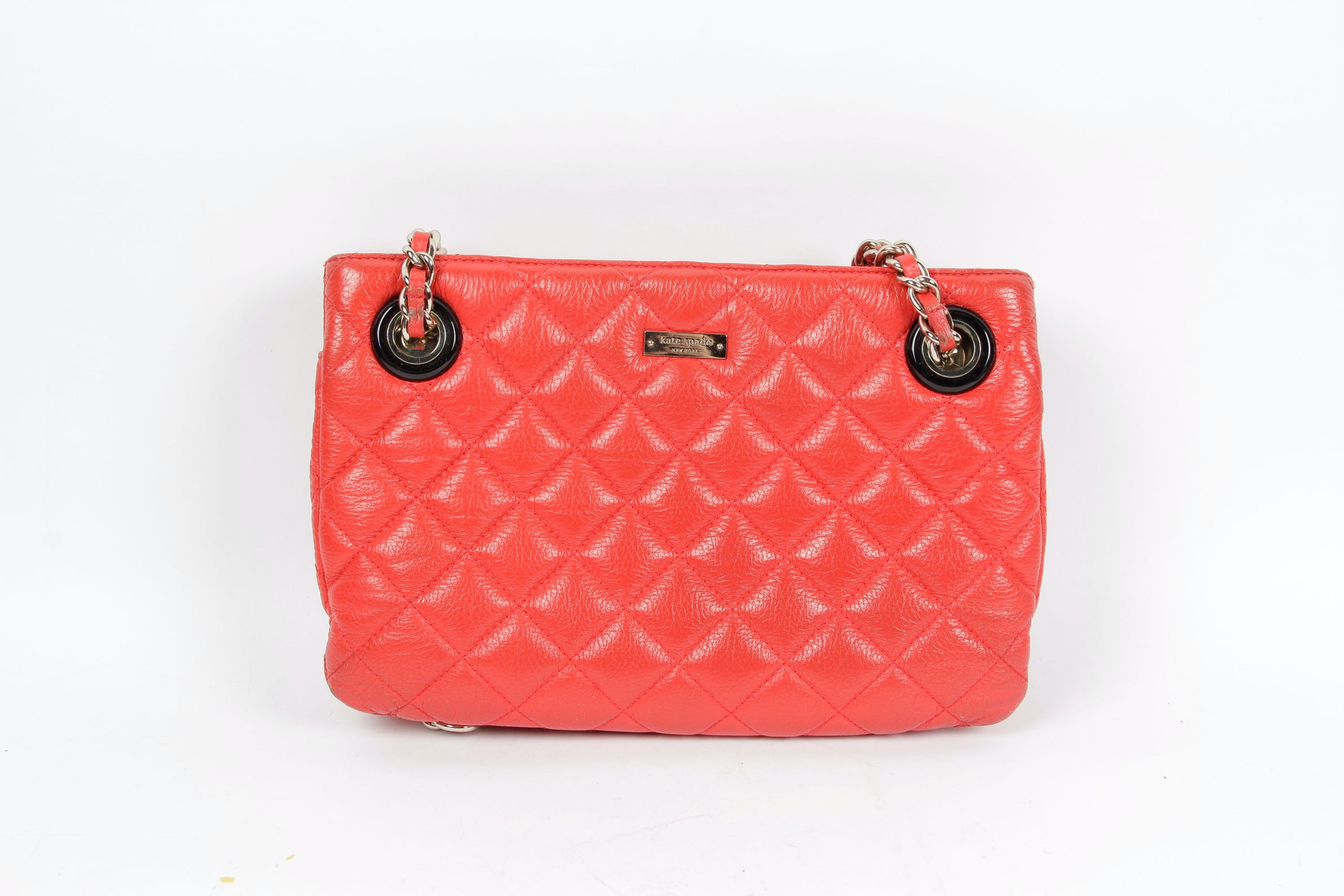 Kate Spade Quilted Red Leather Handbag