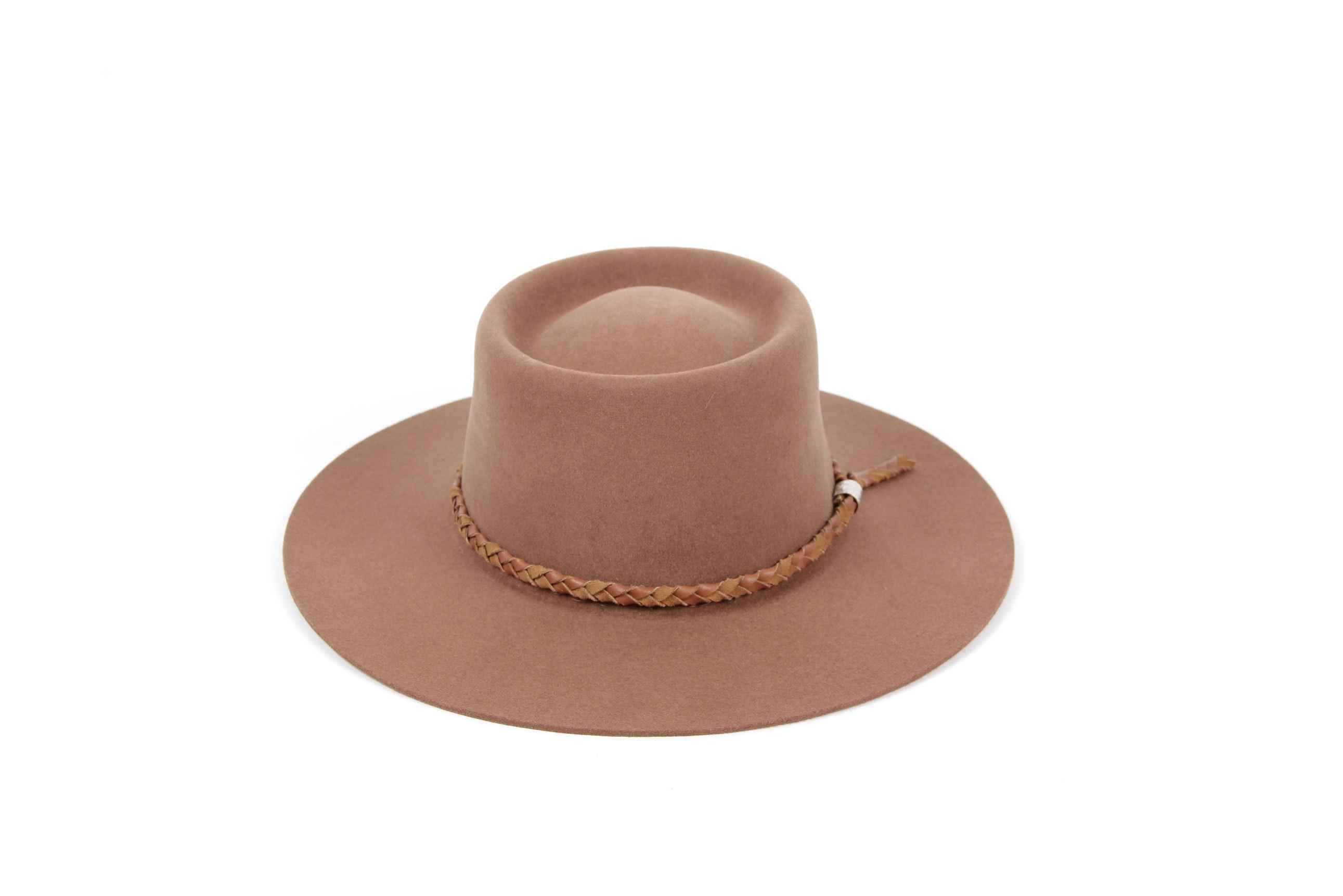 Brown Genuine Fur Felt Hat by Beaver Hats