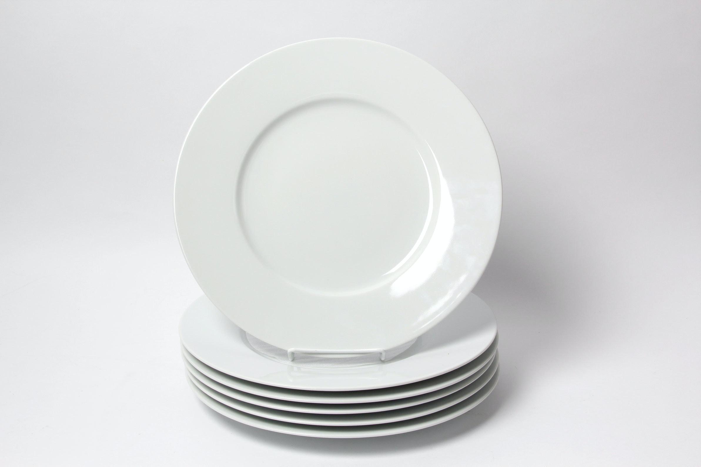 White Porcelain 12.5  Plates by Apilco France ... & White Porcelain 12.5