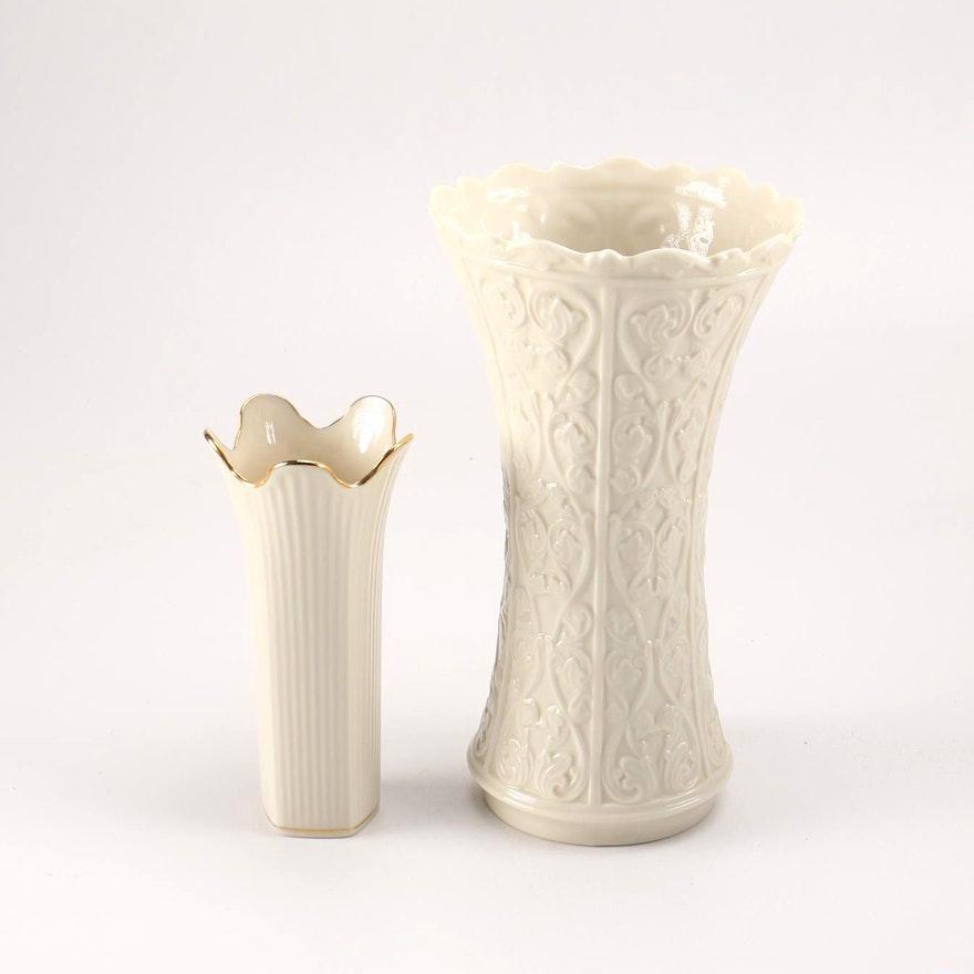 Fluted Lenox Vases Ebth