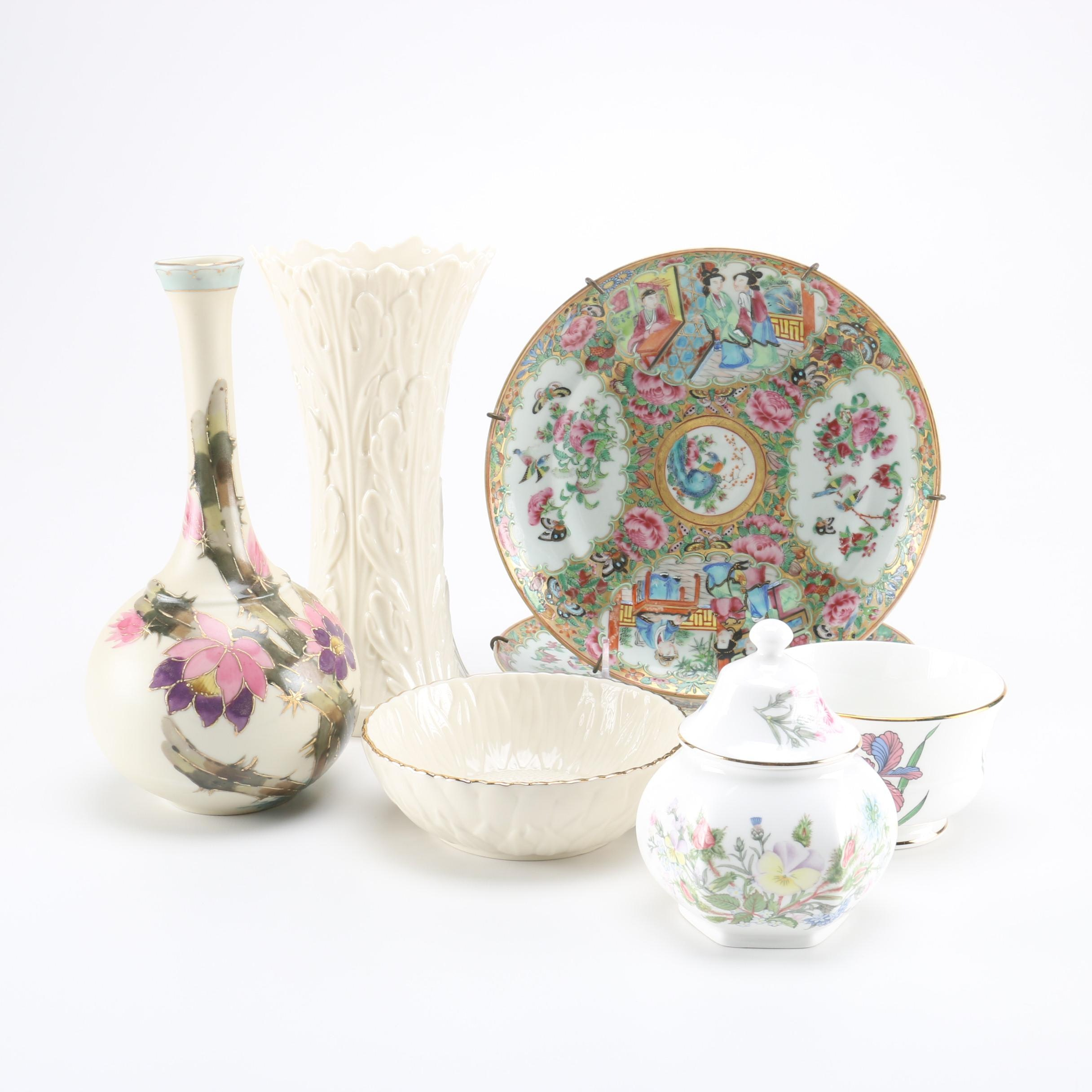 Hand-Painted Ceramics Including Aynsley