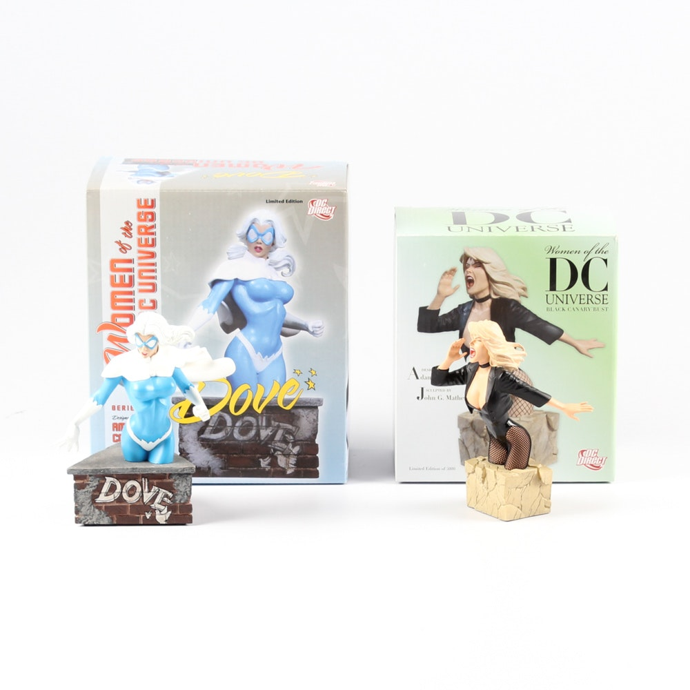 """""""Women of the DC Universe"""" Figurines of Black Canary and Dove"""