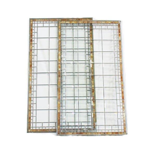 Amber Leaded Slag Glass Panels