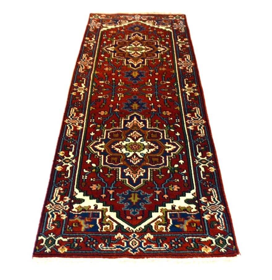 Hand Knotted Persian Tabriz Wool Area Rug Ebth: Hand-Knotted Indo-Persian Heriz Serapi Carpet Runner : EBTH
