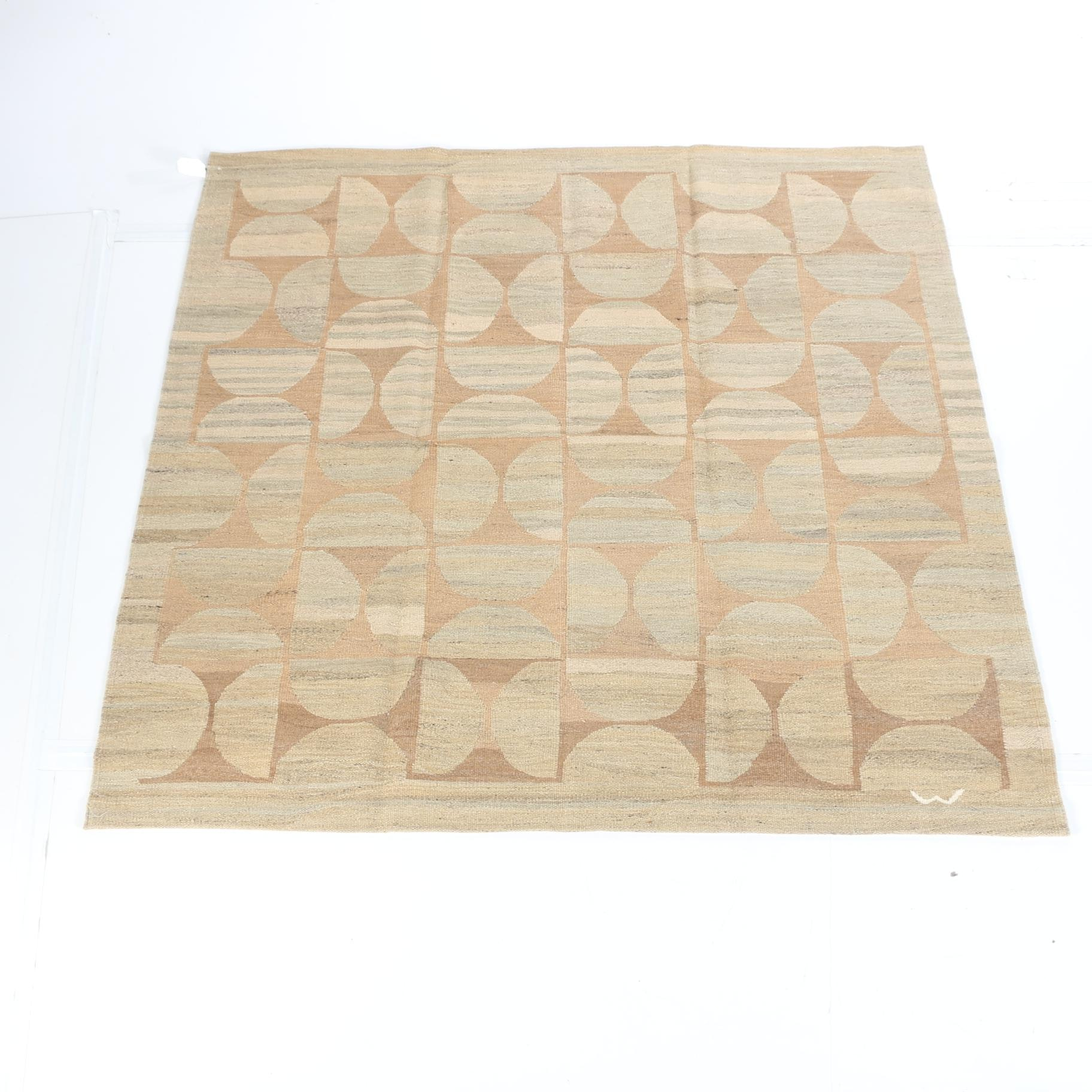 Flat Woven Abstract Area Rug