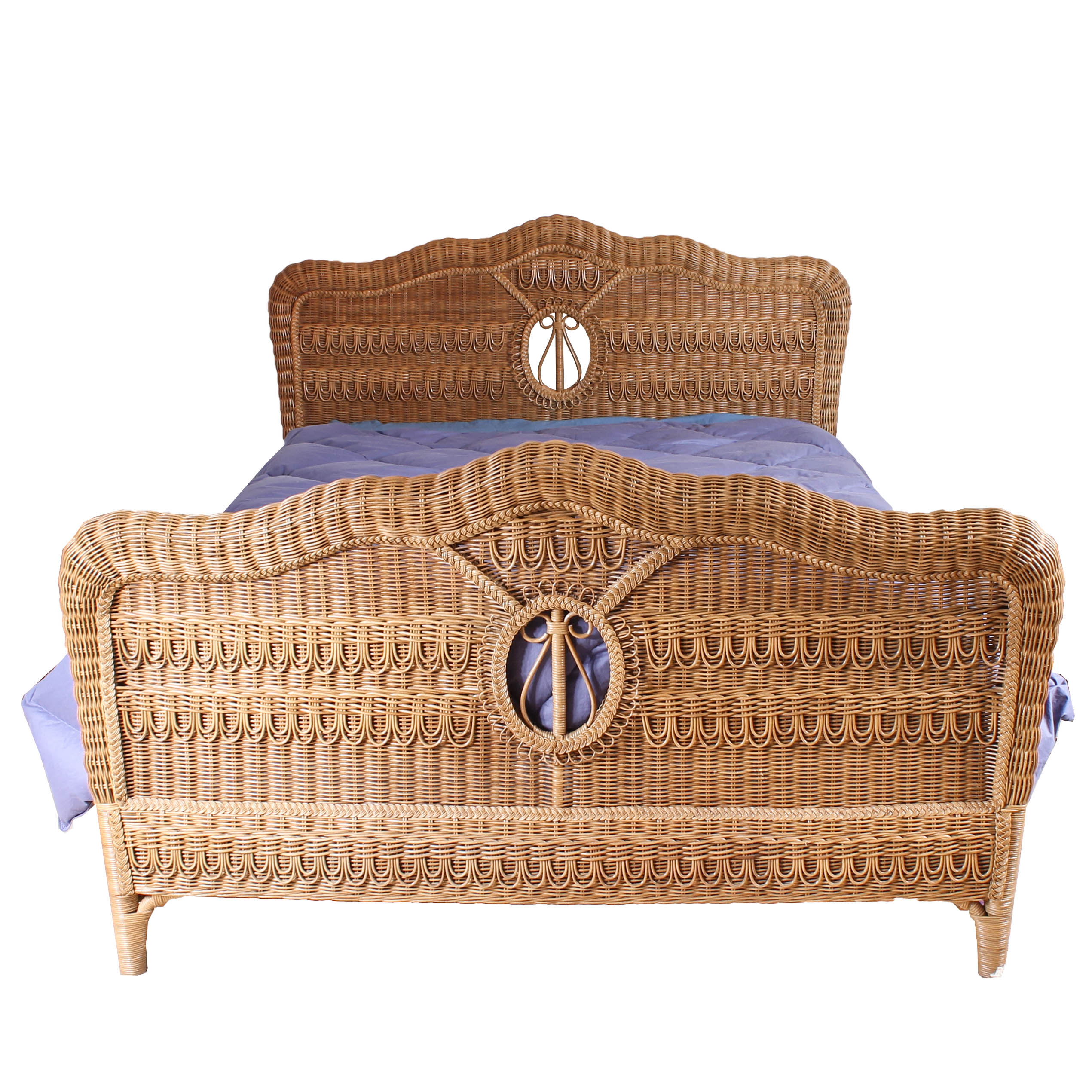 Queen Size Wicker Bed Frame : EBTH