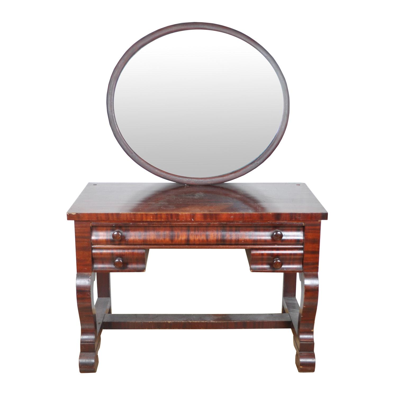 Antique Empire Style Vanity With Mirror