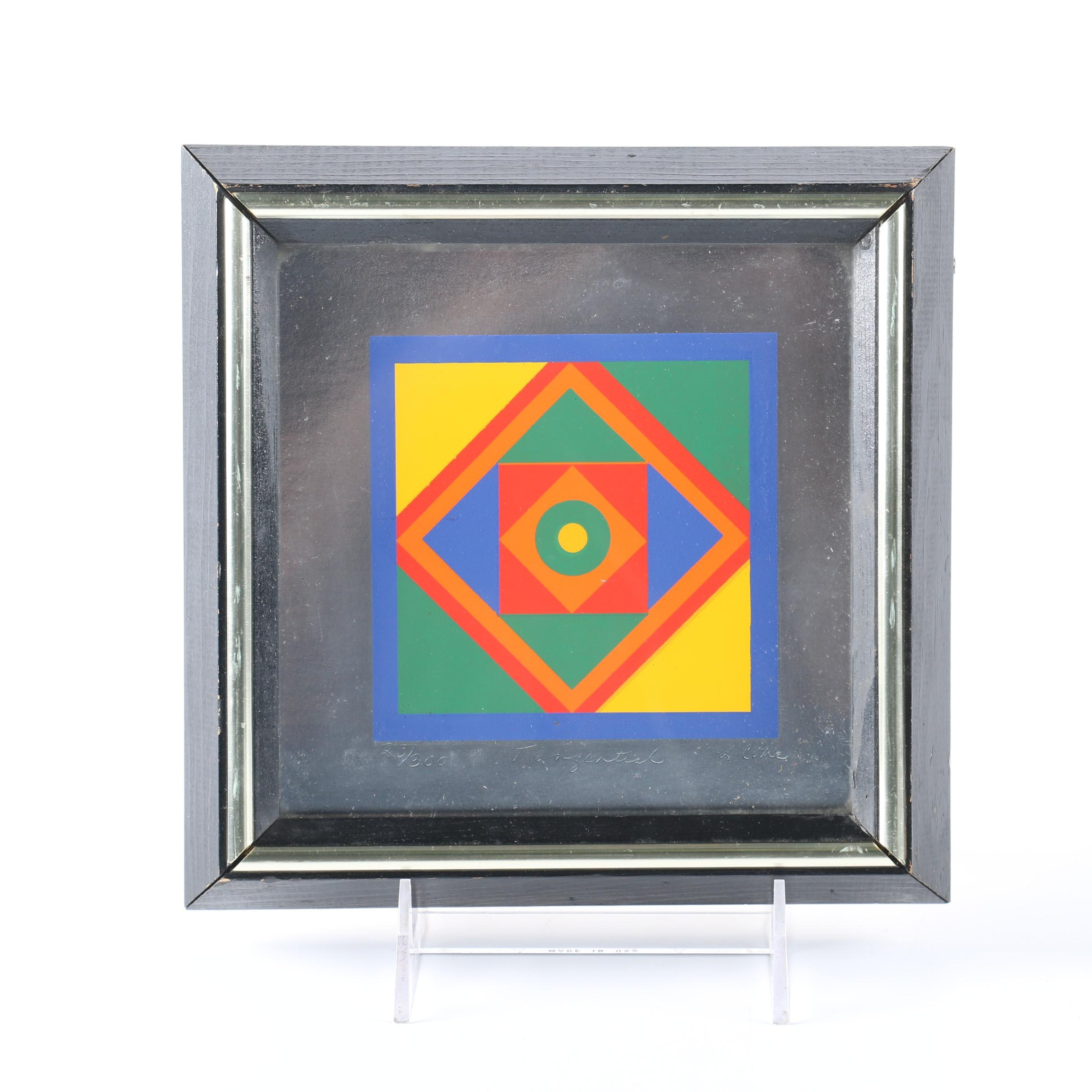 "Limited Edition Serigraph ""Tangential"""