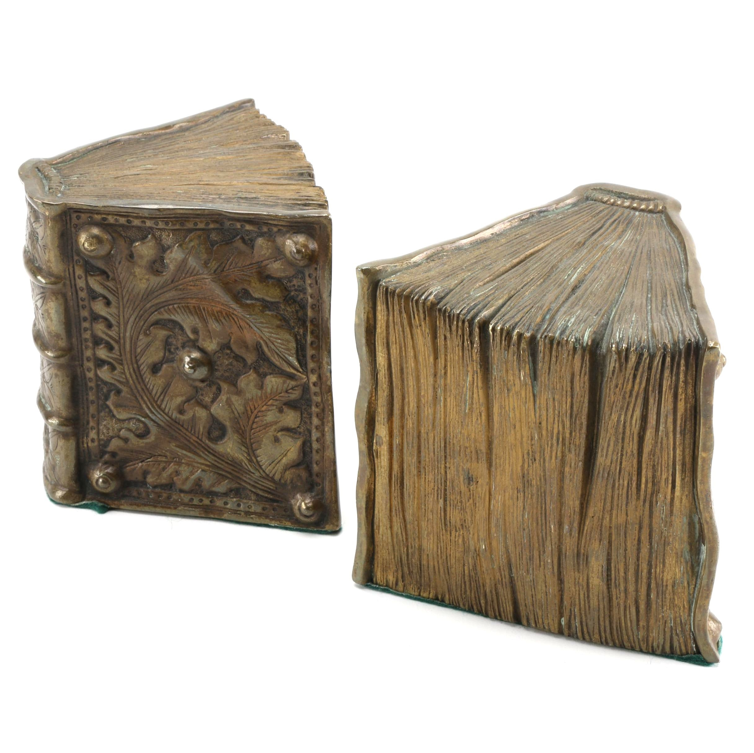 Libriform Bronze Book Ends