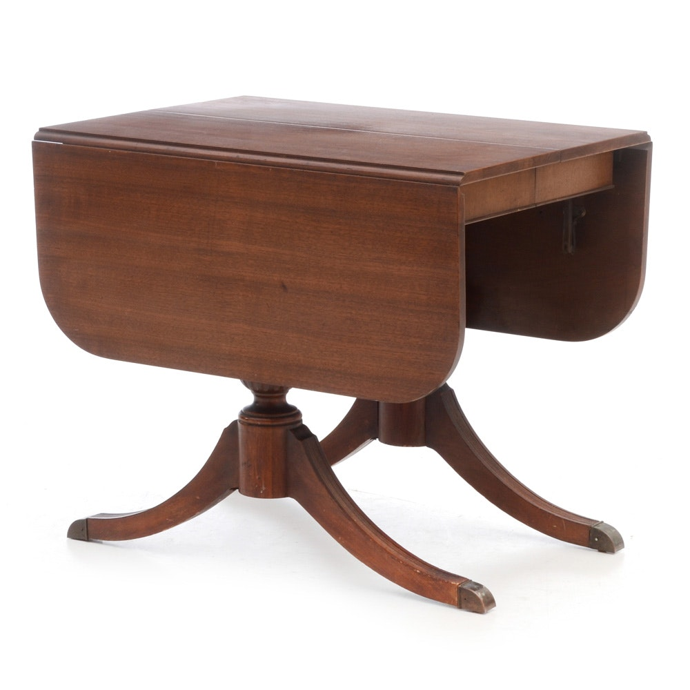Mahogany Duncan Phyfe Style Drop Leaf Table ...