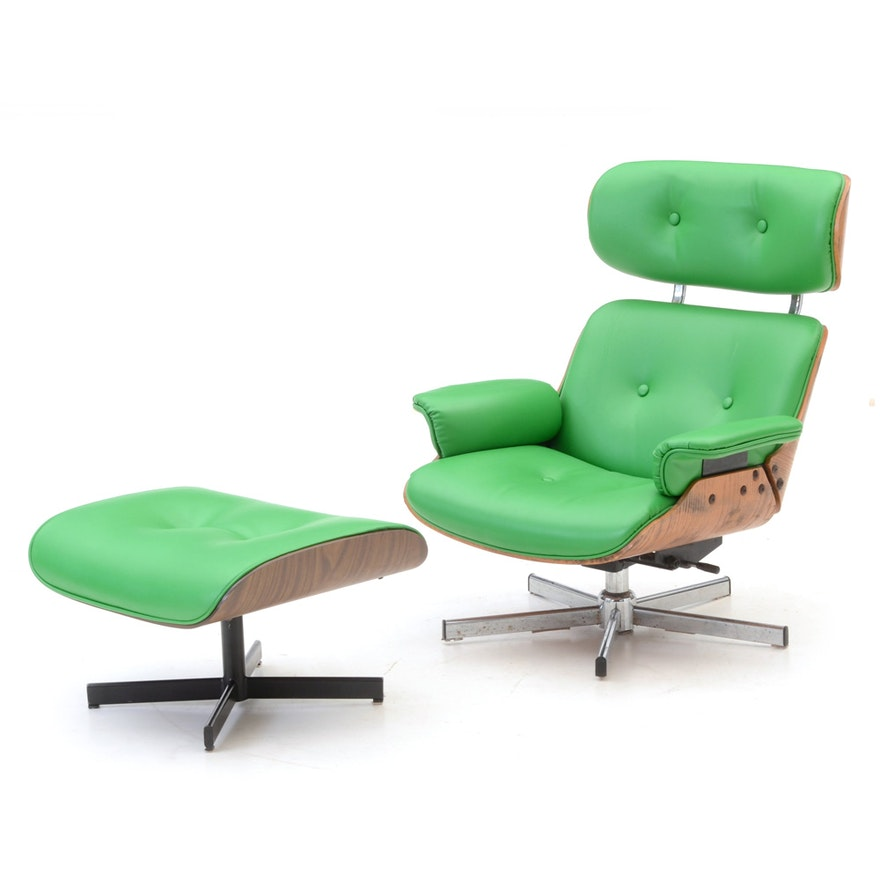 Awe Inspiring Eames Style Lounge Chair And Ottoman Beatyapartments Chair Design Images Beatyapartmentscom