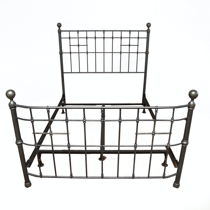 Brushed Metal Full Size Bed Frame : EBTH
