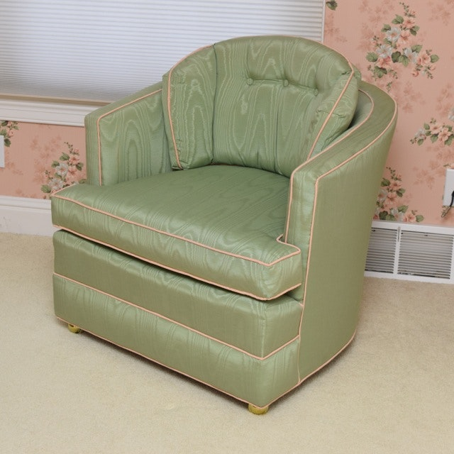 Hollywood Regency Style Barrel Back Chair