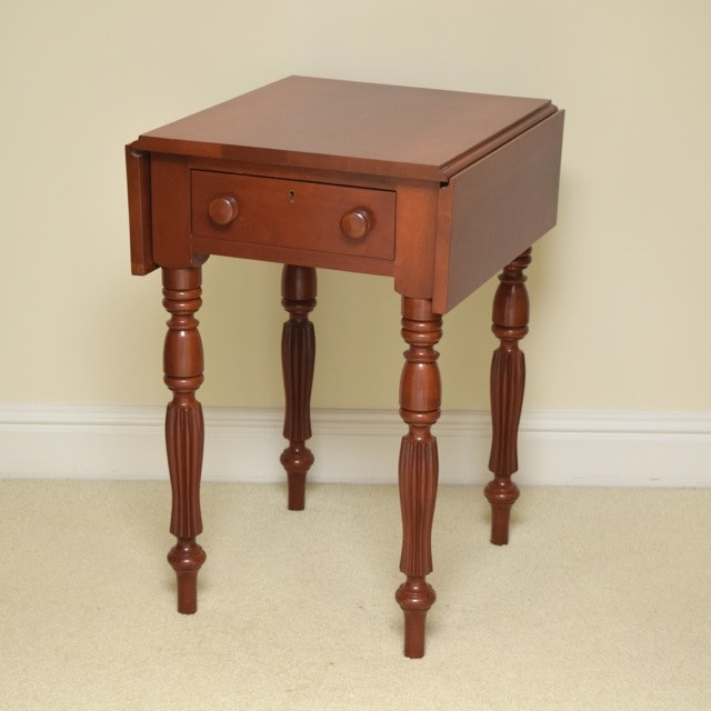 Cherry Drop Leaf Side Table