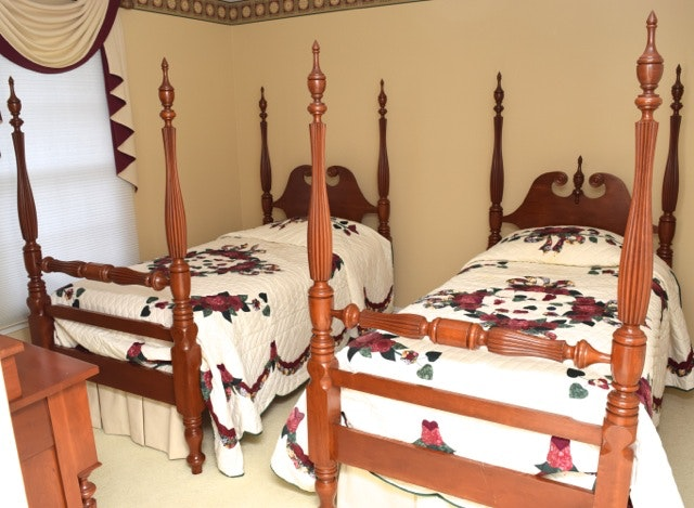 Twin Cherry Four Poster Beds