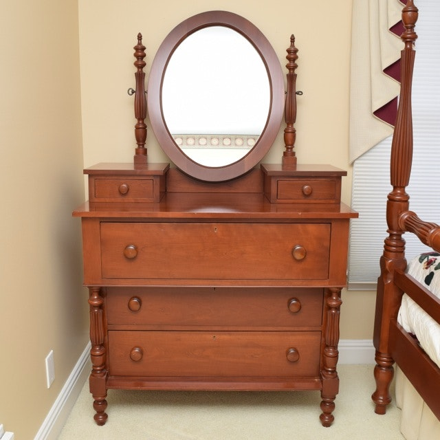 Cherry Dresser with Mirror