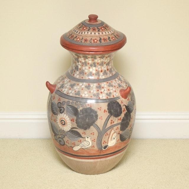 Vintage Tonala Style Pottery Floor Urn
