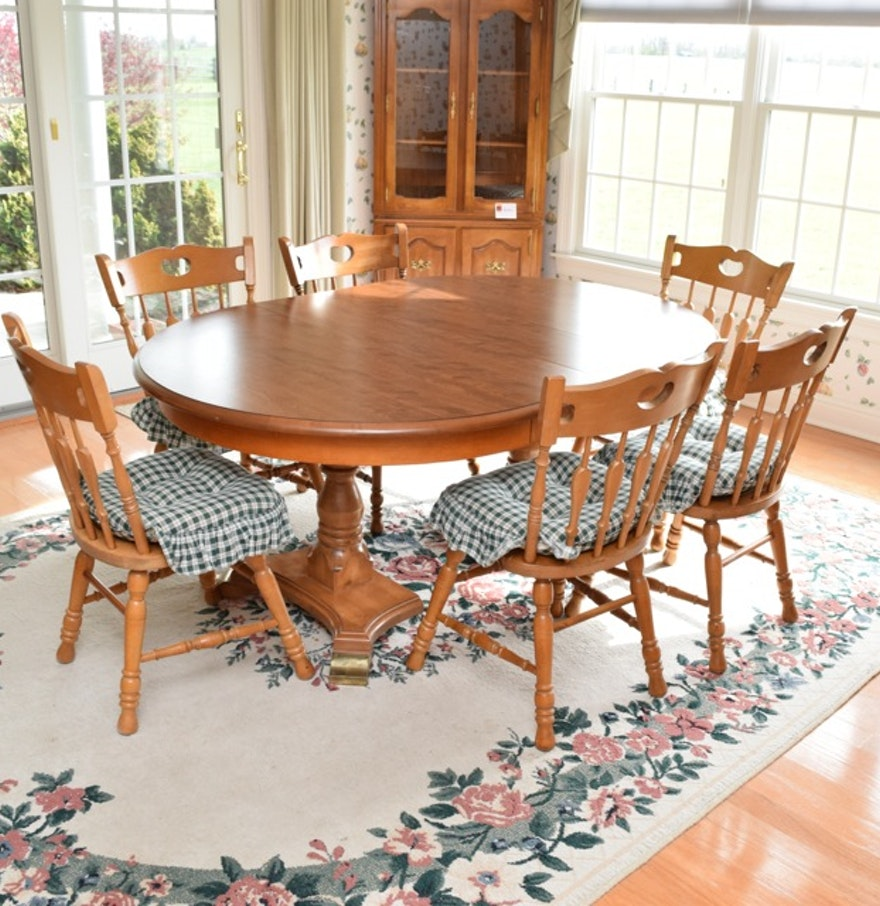 "Cochrane Dining Room Furniture: Cochrane Penn ""Bay Colony"" Dining Table And Six Maple"