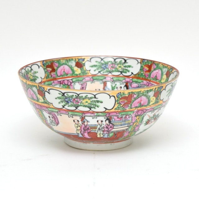 "Chinese ""Famille Rose"" Porcelain Serving Bowl"