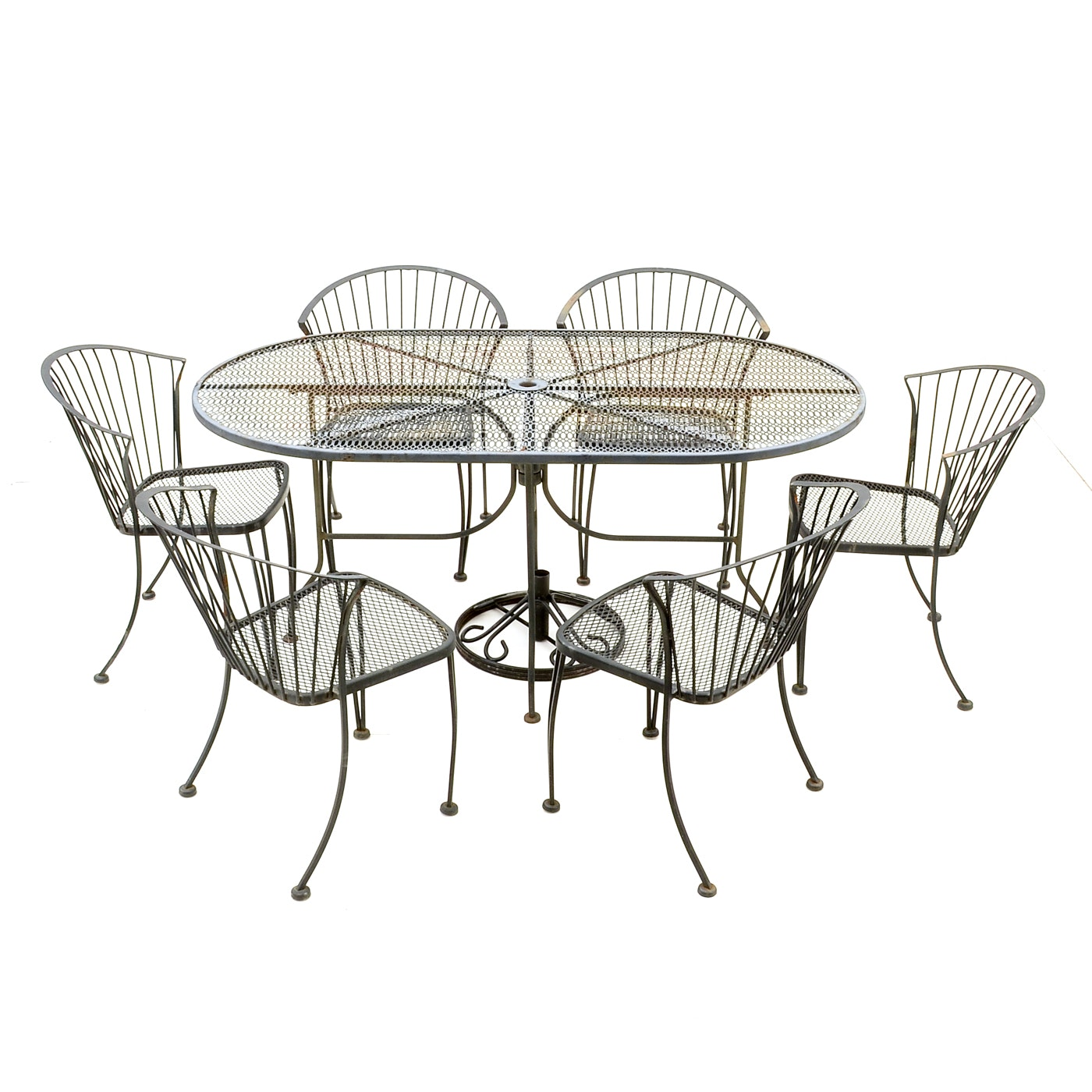 High Quality Carolina Forge Patio Table And Six Chairs ...