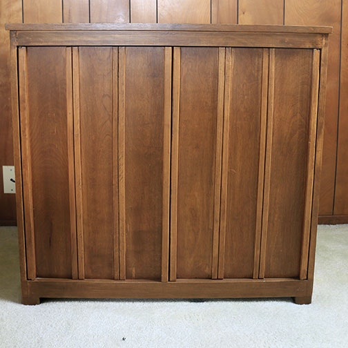 Mid 20th Century Walnut Two Door Cabinet