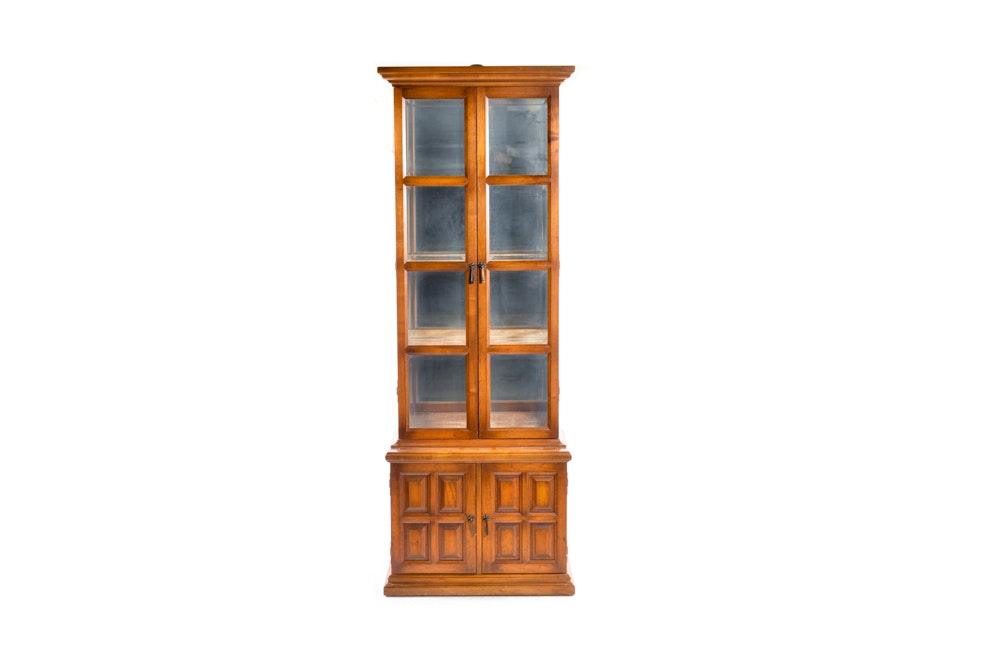 Wood and Glass Curio Display Cabinet