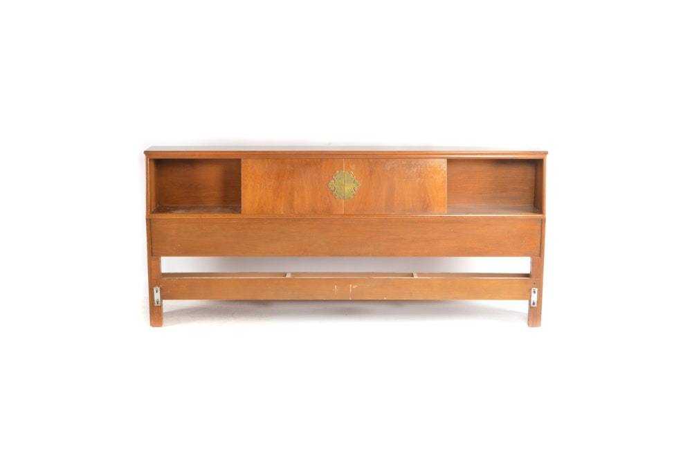 Asian Inspired King Size Headboard With Storage