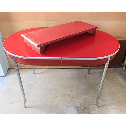 Mid Century Modern Howell Chromesteel Kitchen Table