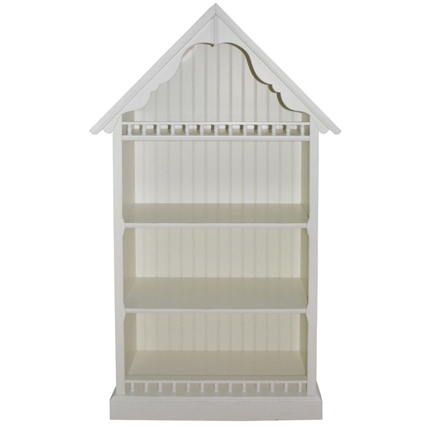 Pottery Barn Kids Wooden Playhouse House Shelving Unit