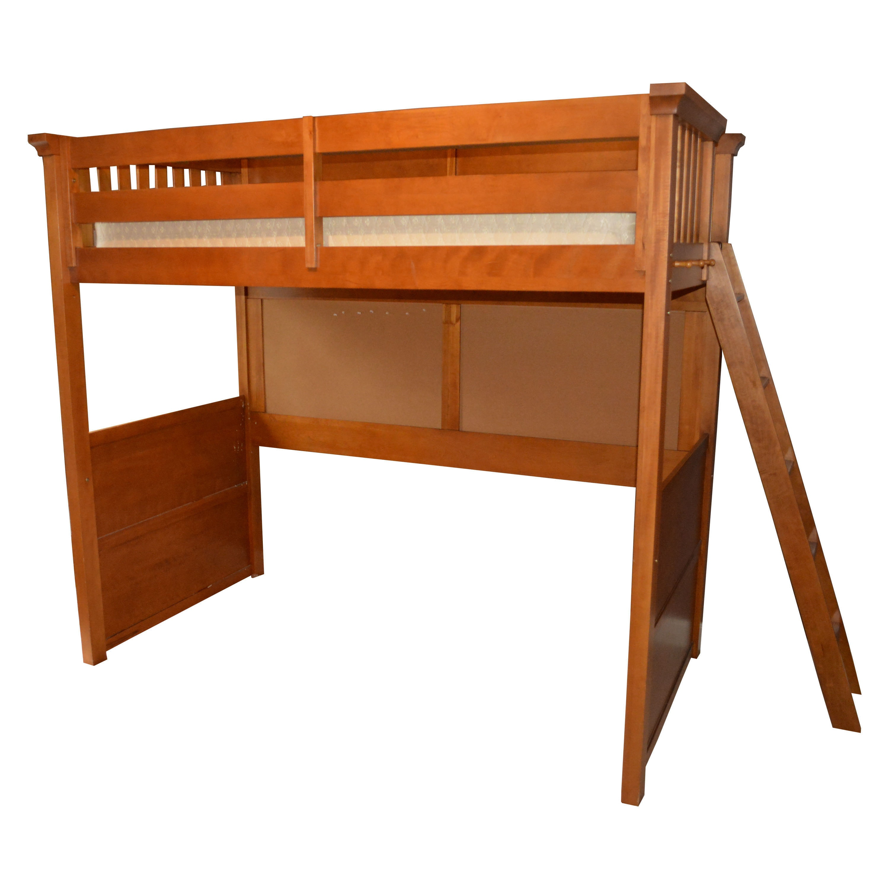 Charmant Lea Industries Wooden Twin Size Loft Bed With Mattress And Ladder ...