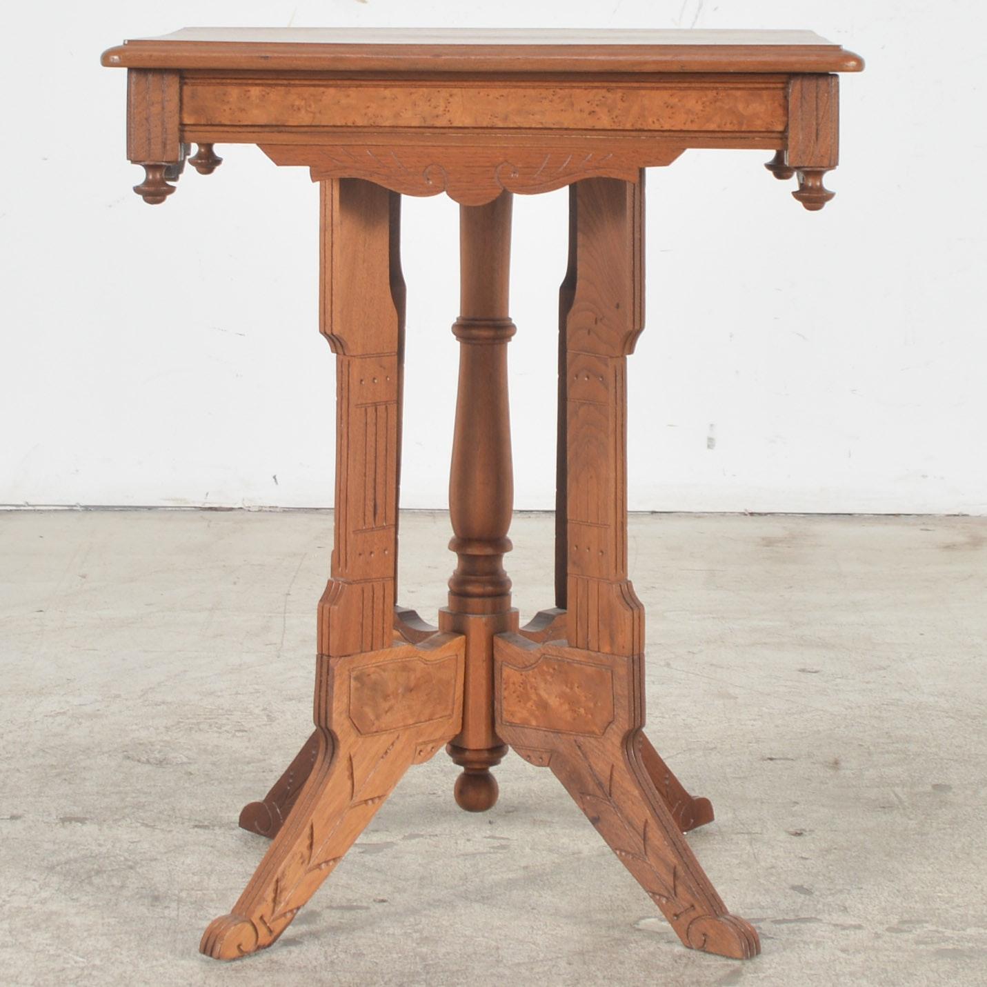Antique Eastlake Oak Parlor Table