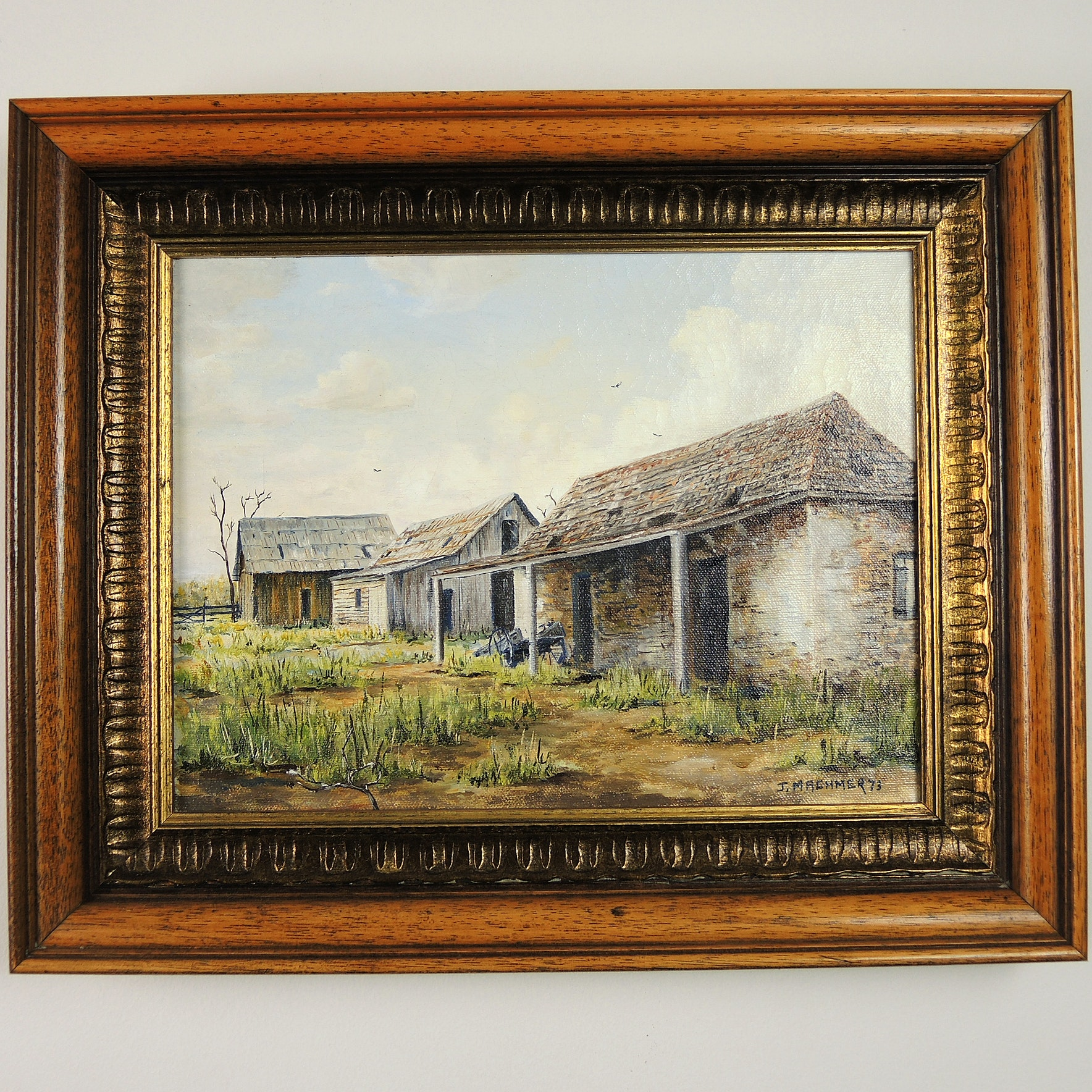 James Machmer Oil Painting of Louisiana Plantation