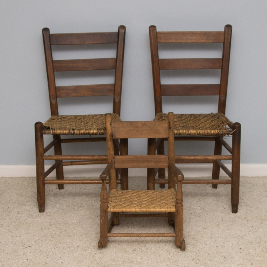 Antique to Vintage Cane Chairs ... - Antique To Vintage Cane Chairs : EBTH