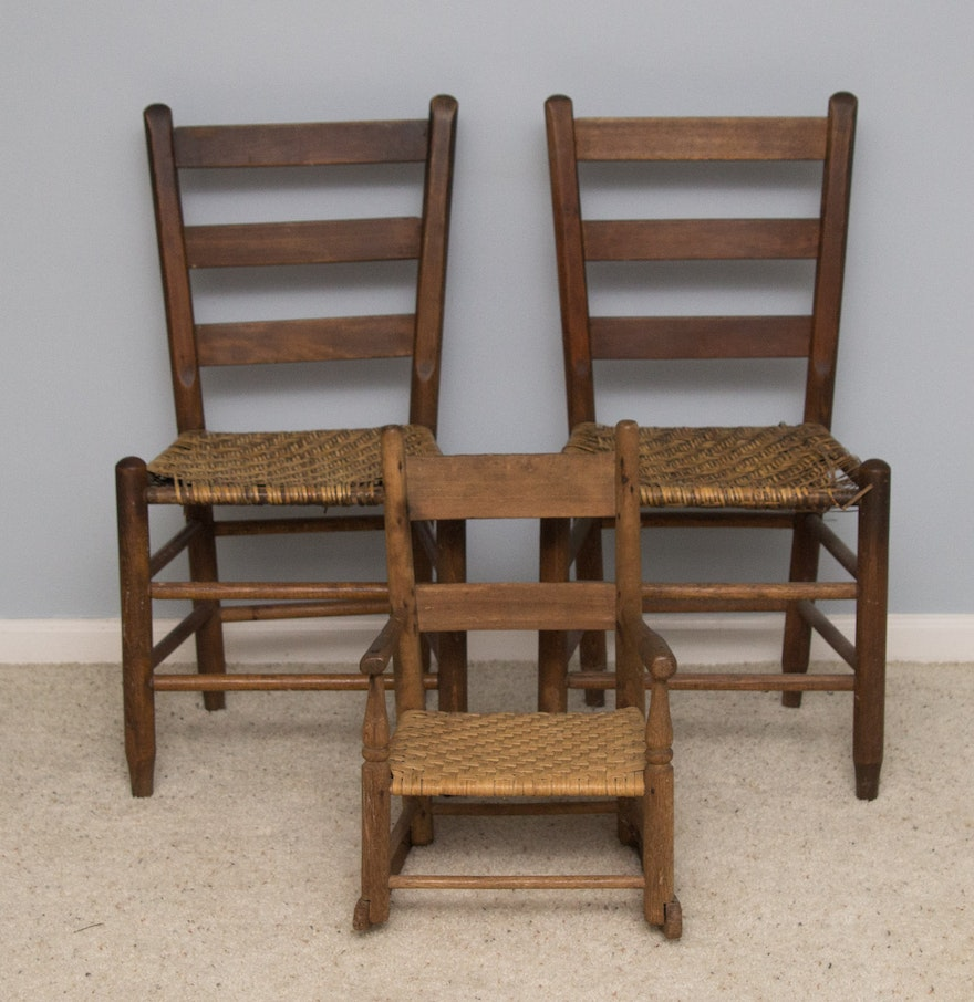 antique to vintage cane chairs ebth. Black Bedroom Furniture Sets. Home Design Ideas