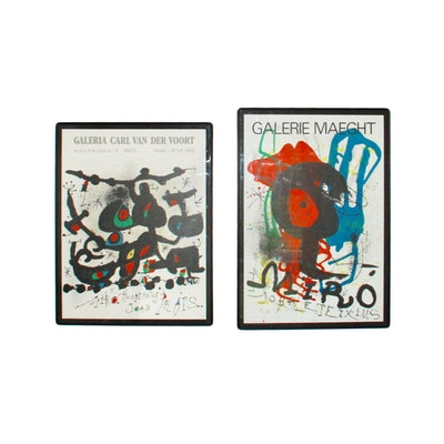 Joan Miro Offset Lithographs of Original Exhibition Posters