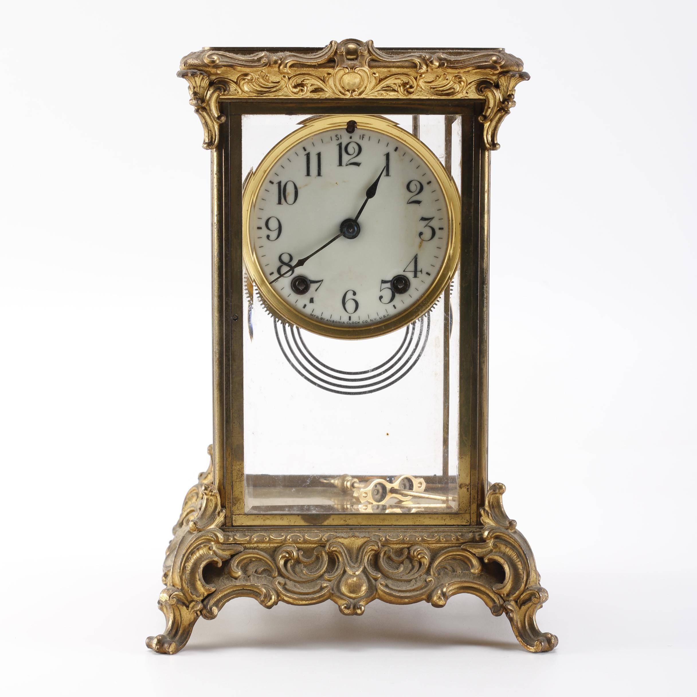 Ansonia Brass Mantel Clock