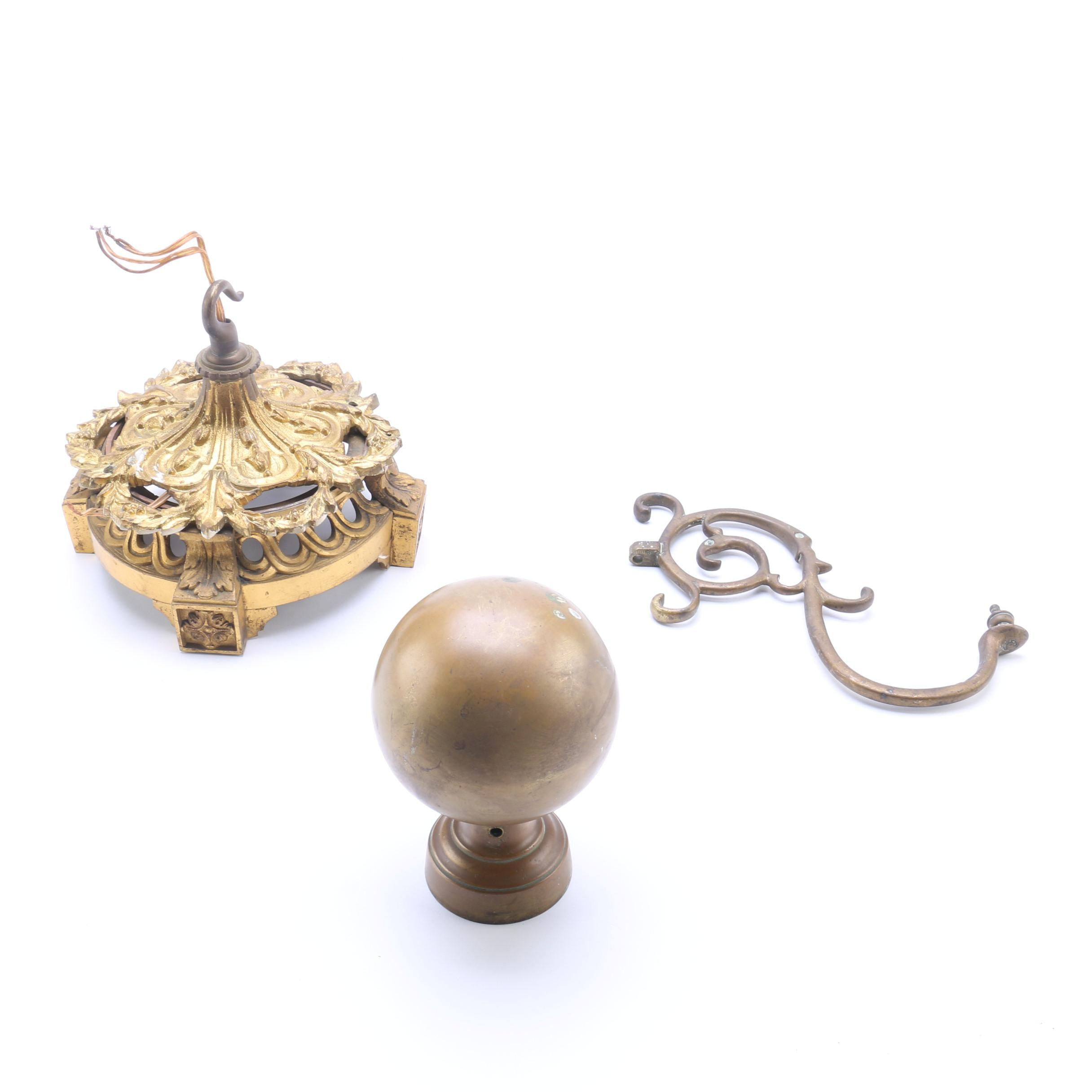 Collection of Antique Brass Hardware