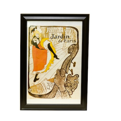 Vintage art prints art print auctions lithographs for for Jardin de paris jane avril