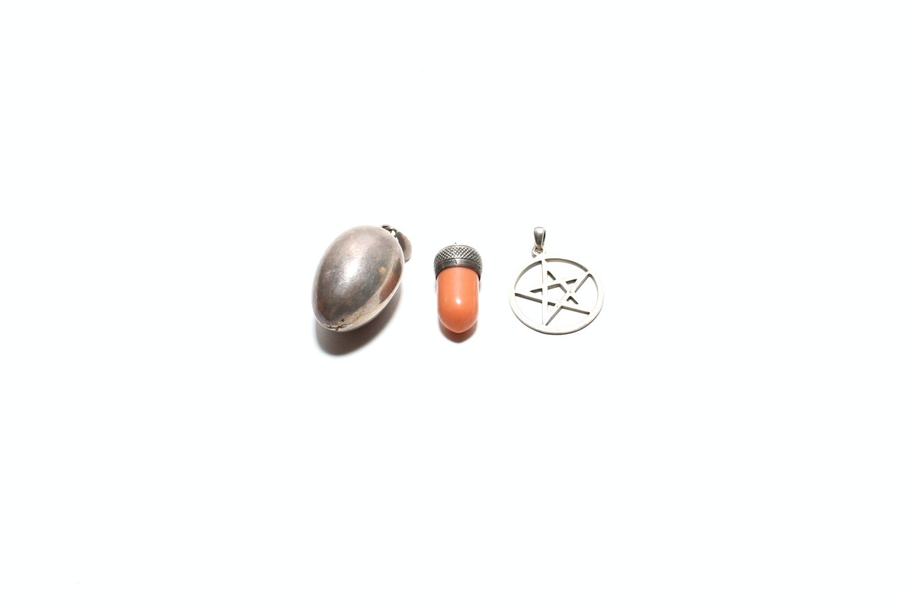 Grouping Of Sterling Silver Pendants