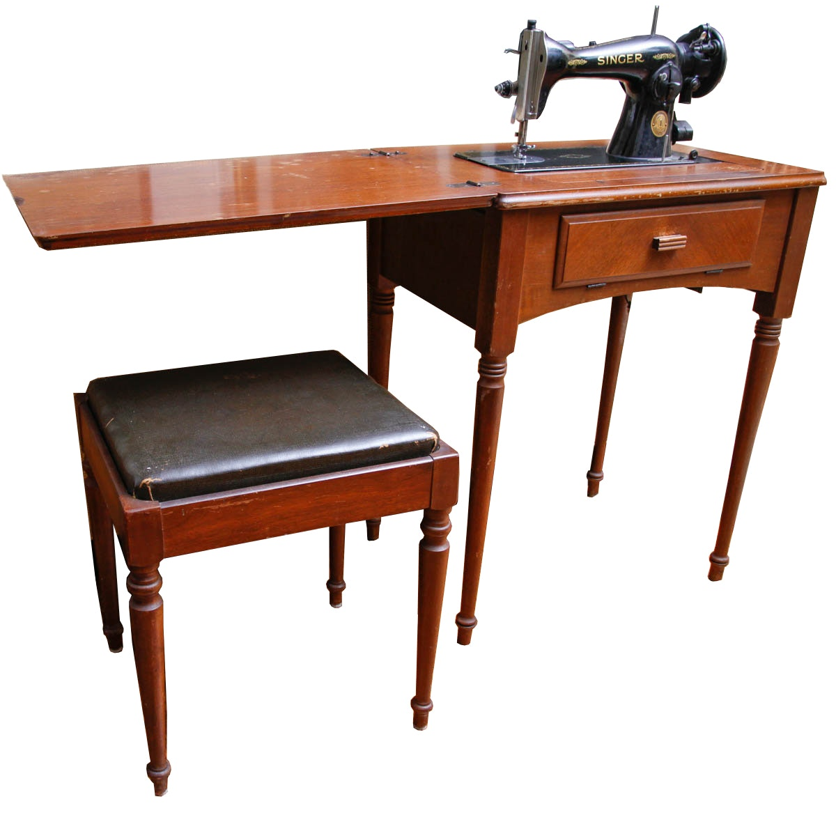 Singer Sewing Table with Stool