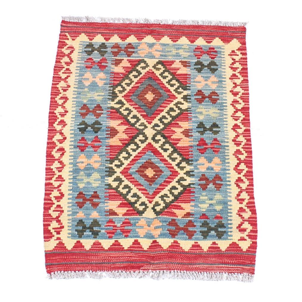 Handwoven Turkish Kilim Accent Rug